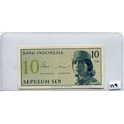 1964 TEN SEN NOTE (BANK OF INDONESIA)