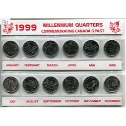 1999 QUARTER SET (MILLENIUM), *COMMEMORATING CANADA'S PAST*