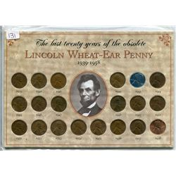 1939-1958 U.S.A PENNY *20 YEARS OF THE LINCOLN WHEAT*