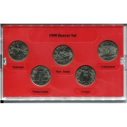 1999 U.S.A. 25 CENT MINT EDITION SET (DENVER)