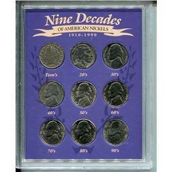 1910-1999 U.S.A NICKELS *NINE DECADES*
