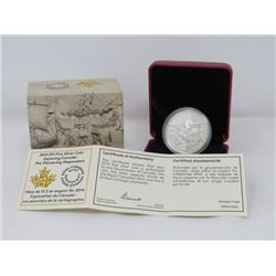 2014 $15 DOLLAR *FINE* CANADIAN SILVER COIN (PIONEERING MAPMAKERS)