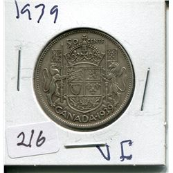 1939 SILVER 50 CENT PC (CNDN)