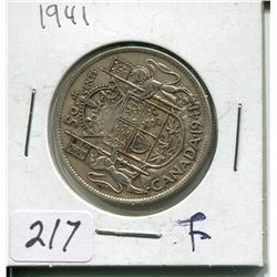 1941 SILVER 50 CENT PC (CNDN)