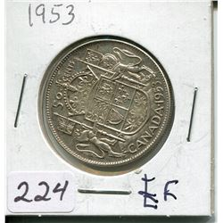 1953 SILVER 50 CENT PC (CNDN)