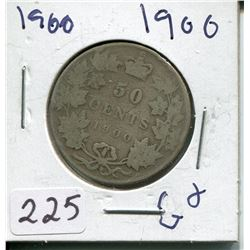 1900 SILVER 50 CENT PC (CNDN)
