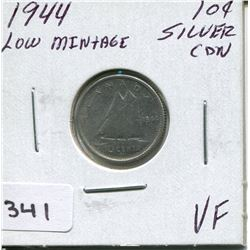 1944 CNDN SILVER DIME,*LOW MINTAGE*