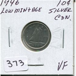 1946 CNDN SILVER DIME,*LOW MINTAGE*