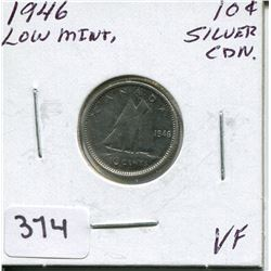1946 CNDN SILVER DIME, *LOW MINTAGE*