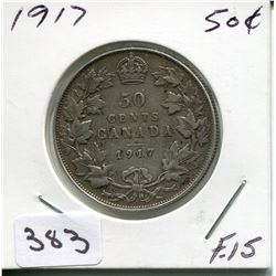 1917 CNDN SILVER 50 CENT PC