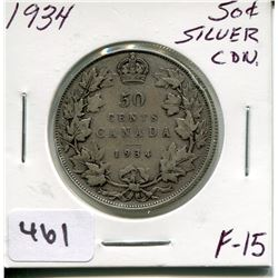 1934 CNDN SILVER 50 CENT PC
