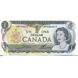 1976 CNDN $1 BANK NOTE, )CROWE/BOUEY) *3 LETTERS*