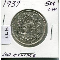1937 CNDN 50 CENT PC *LOW MINTAGE*