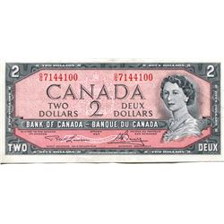 1954 CNDN $2 BANK NOTE (LAWSON/BOUEY)