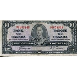 1937 BANK OF CANADA $10 BANK NOTE (COYNE/TOWERS)