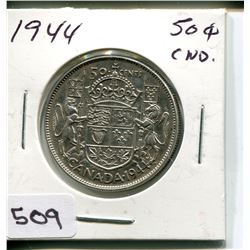 1944 CNDN 50 CENT PC. *SILVER*