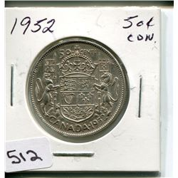 1952 CNDN 50 CENT PC. *SILVER*