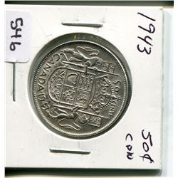 1943 CNDN 50 CENT PC *SILVER*