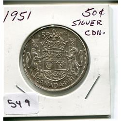 1951 CNDN 50 CENT PC *SILVER*