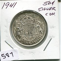 1941 CNDN 50 CENT PC *SILVER*