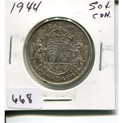 1944 CNDN 50 CENT PC *SILVER*