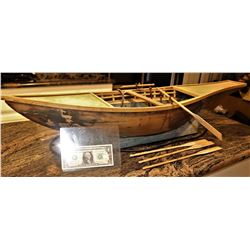 CLEOPATRA EGYPTIAN BOAT ANTIQUE FILM MINIATURE WITH ROWING MECHANICS INTACT