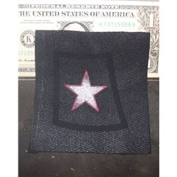 CAPTAIN AMERICA THE WINTER SOLDIER PROTOTYPE BUCKY BARNES STAR ON FABRIC SWATCH