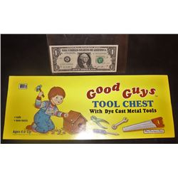 CHILD'S PLAY GOOD GUYS TOOL CHEST STICKER RAREST OF THE STICKERS!