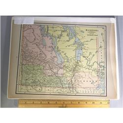 Fine and Rare Engraved Map of Manitoba