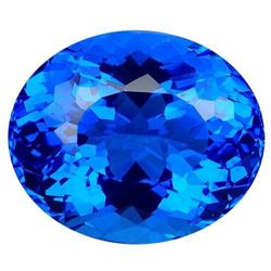 37.35ct. Cornflower Blue Quartz Oval