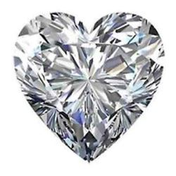 Massive 20 X 20mm Heart Shaped BIANCO Display Diamond
