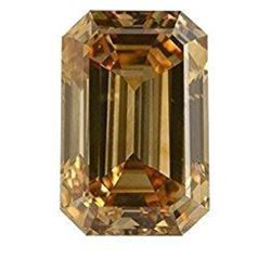 2.5ct Champagne Emerald Cut Bianco Diamond