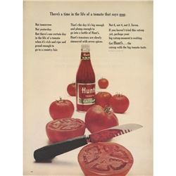 1964 Hunts Catsup Magazine Advertisement