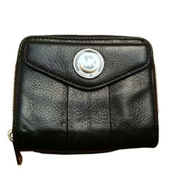 Michael Kors Bi-fold Black Leather Wallet