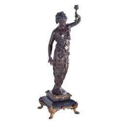 Victorian Patinated Bronze Classical Figure