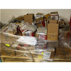 PALLET OF MISC FASTENERS, NUTS, BOLTS AND MORE