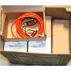 BOX OF 9 STATIC DISCHARGE GROUND WIRE ASSEMBLY