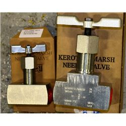 PAIR OF KEROTEST-MARSH NEEDLE VALVES