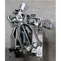 "BOX OF 5, 4"" BEAM CLAMPS WITH PIPE HANGER"