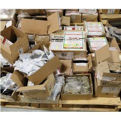 PALLET OF ASSORTED BOLTS, NUTS, AND FITTINGS