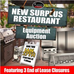 SIGN UP EARLY FOR THE KASTNER RESTAURANT AUCTION