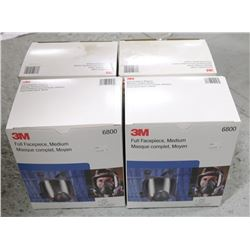 BOX OF 3M FULL FACEPIECE, MEDIUM (6800),