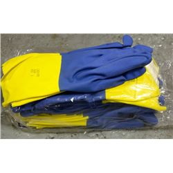 "12 PAIR OF ANSELL CHEMI-PRO FLOCKLINED 13"" GLOVES"