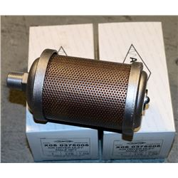 LOT OF 2 WALWITCO AIR DRYER MUFF MALE NPT