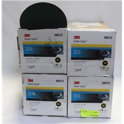 """4 CASES OF 6"""" 3M GREEN CORPS ABRASIVE DISC HOOKIT"""