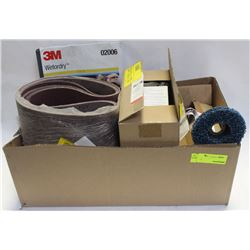 FLAT OF ASSORTED STRIPPING DISC & BELT SANDPAPER