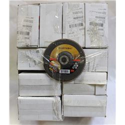 10 BOXES OF CUBITRON  TYPE 27 FLAP DISC, GRADE 60