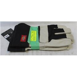 DICKIES DELUXE COWHIDE GLOVES - L- LOT OF 2