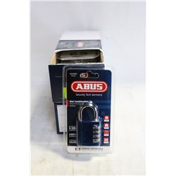 2 CASES(12) OF ABUS ALUMINUM DIAL PADLOCKS