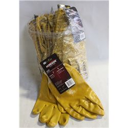 1 DOZEN NEW HORIZON PVC-DIPPED WORKGLOVES-LARGE
